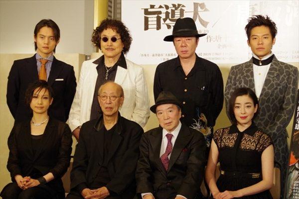 舞台『盲導犬』『唐版 滝の白糸』会見が蜷川幸雄の独壇場に!?