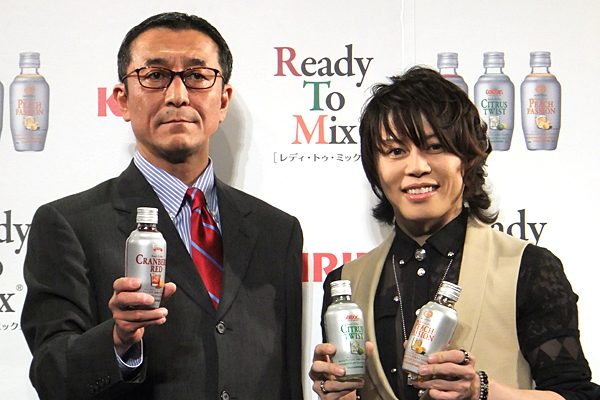 T.M.R西川貴教がオリジナルカクテルを披露