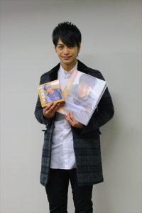 トレーディングカード発売記念握手会を行った小澤亮太