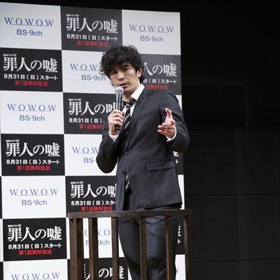 連続ドラマW「罪人の嘘」完成披露試写会で伊藤英明が「引退宣言!?」