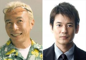 『トイ・ストーリー』でバズ役を演じる所ジョージ(左)、ウッディ役の唐沢寿明