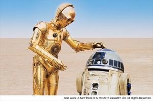 『スター・ウォーズ』の名コンビ、C3PO(左)とR2D2