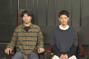 映画『バンクーバーの朝日』ビジュアルコメンタリー収録に登場した妻夫木聡(右)、石井裕也監督