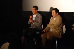 『ライアの祈り』舞台挨拶とティーチインイベントを行った宇梶剛士と黒川浩行監督