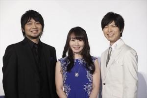 『ハンガー・ゲーム FINAL:レジスタンス』舞台挨拶に登場した水樹奈々、神谷浩史、中村悠一