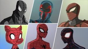 『アルティメット・スパイダーマン ウェブ・ウォーリアーズ』に登場する異次元スパイダーマンたち