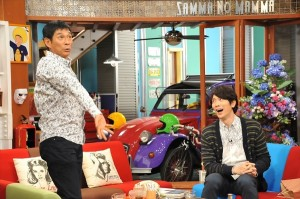 『さんまのまんま』に出演した佐々木蔵之介(右)