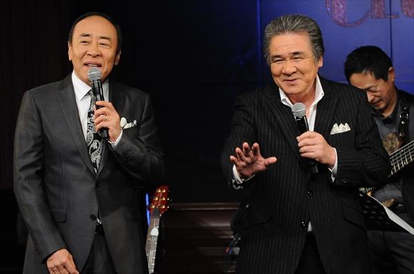 <p>モト冬樹と鳥羽一郎「BS12歌謡ナイト jazzyなライブショー」</p>