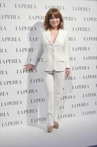 イタリアの高級下着ブランド「LA PERLA」(ラペルラ)チャリティーコラボレーション日本発表イベントに登場した浜崎あゆみ