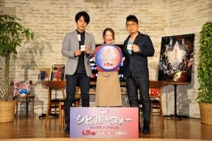 宮迫博之、溝端淳平が「マーベル・カフェ」オープニングイベントに登場