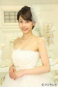 ウエディングドレス姿を披露した加藤綾子アナ
