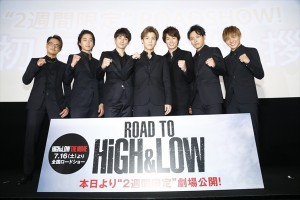 「ROAD TO HiGH&LOW」初日舞台あいさつ