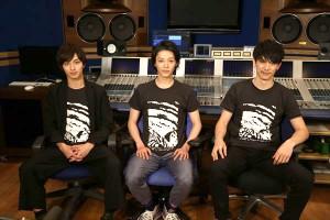 「テレ朝チャンネル オリジナル版」の副音声に挑んだ(左から)横浜流星、安⻄慎太郎、 青木玄徳