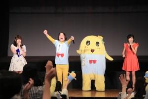 「レジェンドオブふなっしー」初日舞台挨拶で永野熱唱!