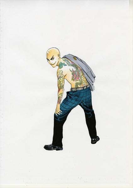 <p>大野拓朗が全身刺青&強烈そり込み「朝ドラのイメージを180度ひっくり返す」 (C)安童夕馬・朝基まさし/講談社</p>