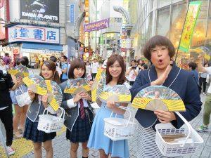 森田甘路が女装姿で都内を練り歩き『でぶせん』PR