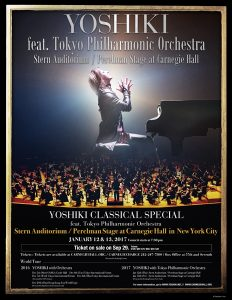「YOSHIKI CLASSICAL SPECIAL Featuring Tokyo Philharmonic Orchestra」