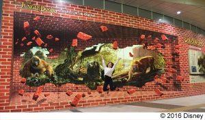 『ジャングル・ブック』超大型トリックアート