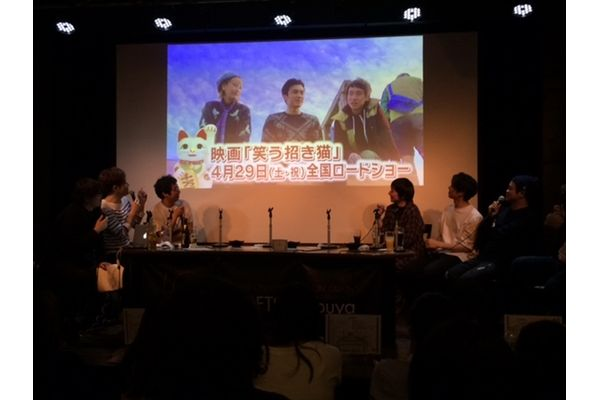清水富美加&松井玲奈の漫才をなすなかにし絶賛!「関西の大御所の立ち居振る舞いだった」映画「笑う招き猫」イベント