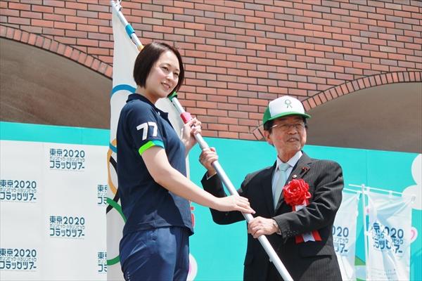 山口達也、元バレーボール日本代表・大山加奈のアタックに「サメを捕まえるほうが得意(笑)」東京2020オリンピック・パラリンピック フラッグツアー