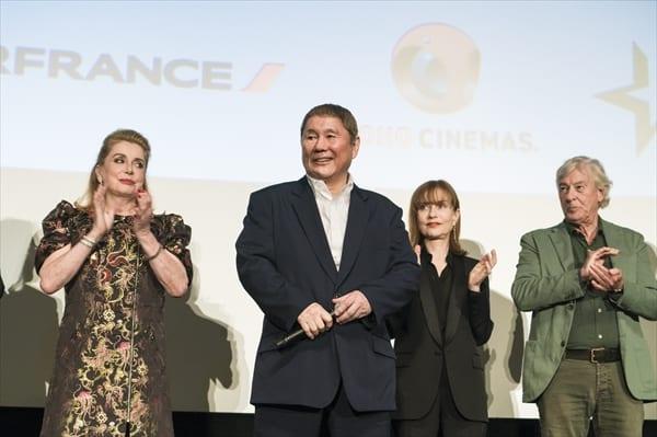 北野武監督、フランス映画祭2017のオープニングセレモニーに登場