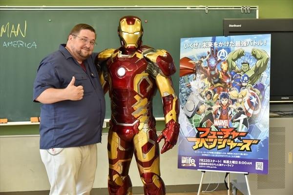 アイアンマンが教室に!マーベル社・セブルスキー氏が小学校で特別授業