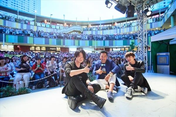 GLAY TERU&JIROがラジオ公開収録に登場!ファン4000人が大歓声
