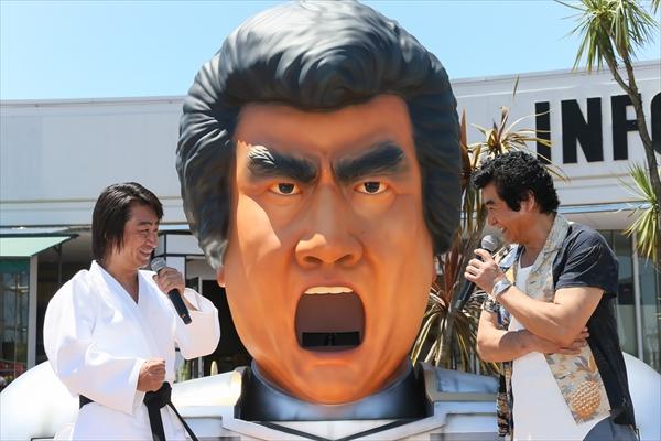 <p>藤岡弘、&中川大志の焼きそばCMキャラクターがプールをジャック!?</p>