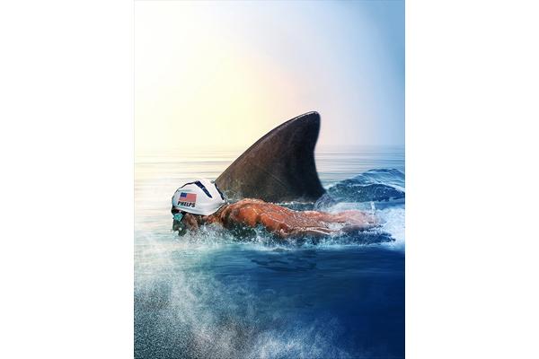 """""""水の怪物""""M・フェルプスがサメと競争!『サメVS人間』7・29放送"""
