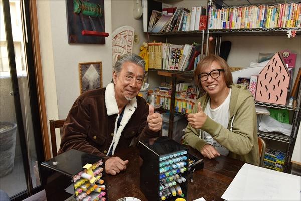 しりあがり寿が『じゅん散歩』で高田純次と初対面!互いの似顔絵を描いて公開