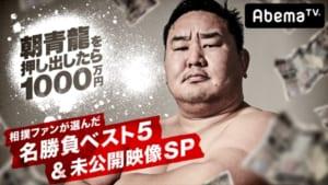 『朝青龍を押し出したら1000万 相撲ファンが選んだ名勝負ベスト5&未公開映像SP』