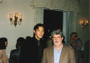 アメリカ大使館にて、別所哲也×ジョージ・ルーカス(1999年)