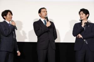 映画『空飛ぶタイヤ』公開記念舞台あいさつ