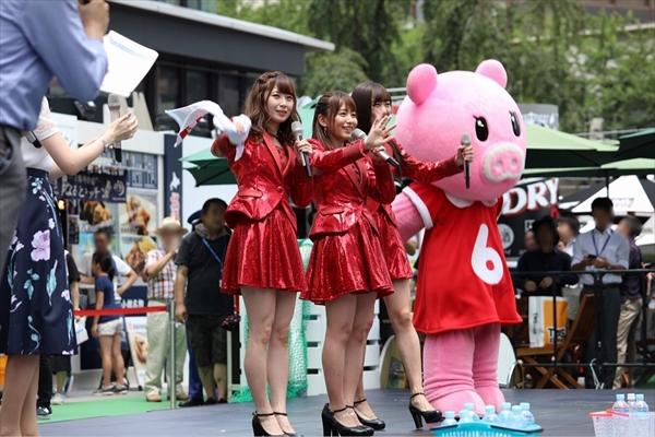 SKE48・須田亜香里、高柳明音、大場美奈が「TBS夏サカス」で食レポに挑戦