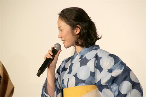 <p>映画「未来のミライ」初日舞台あいさつ</p>
