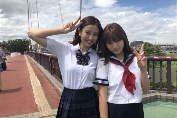 川口春奈&片瀬那奈が『ヒモメン』で女子高生に!ミニスカ制服姿を披露