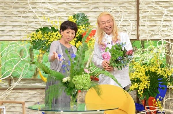 假屋崎省吾が阿川佐和子に生け花のコツを伝授!『サワコの朝』9・29放送