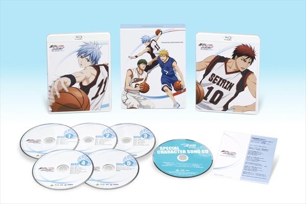 「黒子のバスケ 1st SEASON」BD BOX 1・29発売!特典は新録キャラソングCD