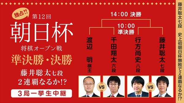「第12回 朝日杯将棋オープン戦」