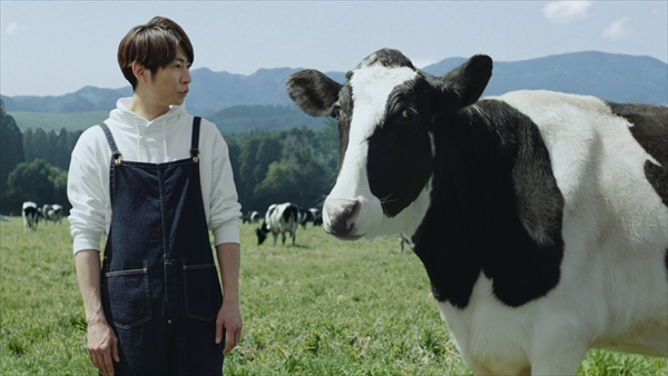 「明治おいしい低脂肪乳」新CM「牛と相葉さん」篇