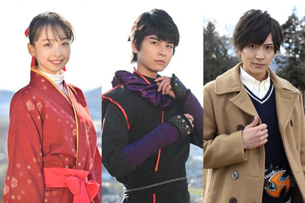 (左から)華村あすか、多和田任益、財木琢磨