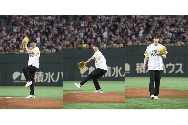 鈴木伸之、始球式で122キロの剛速球「めちゃくちゃ気持ちよかった」