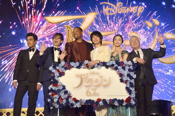 ウィル・スミスの即興ライブに中村倫也も大興奮!映画「アラジン」マジック・カーペットイベント