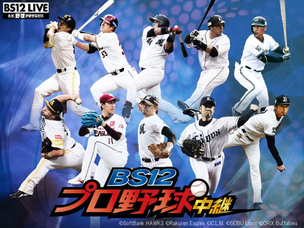 <p>「BS12プロ野球中継2019」</p>