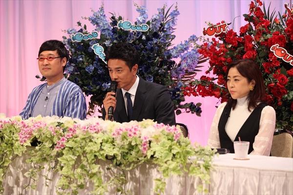 山里亮太と原田龍二が合同記者会見 フォロー役・松本明子の服装が…『アウト×デラックス』7・4放送