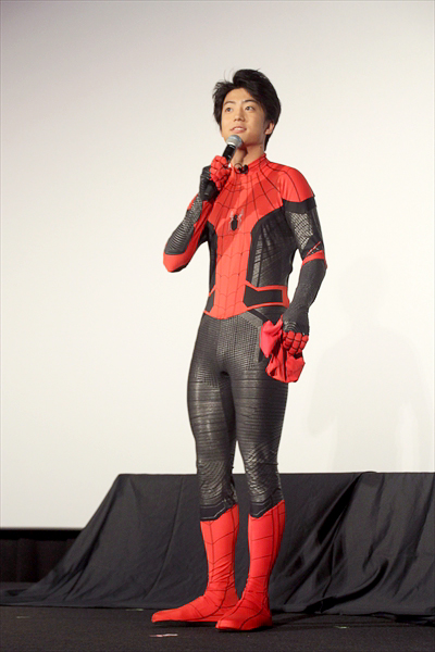 映画「スパイダーマン:ファー・フロム・ホーム」大ヒット御礼舞台あいさつ