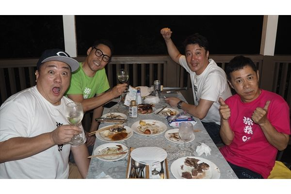 東野幸治&岡村隆史が極楽とんぼとBBQの旅「旅猿」特別版 Huluで8・9独占配信