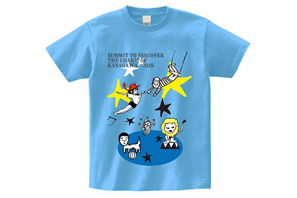 「カナガワブルー」オリジナルTシャツデザイン