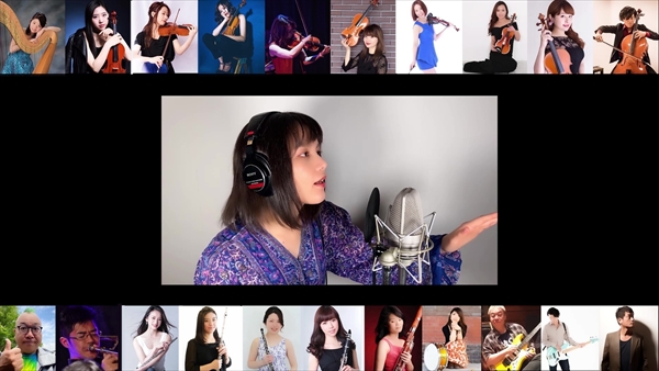 Anlyと音楽家たちによるテレワークオーケストラ「Distance」動画