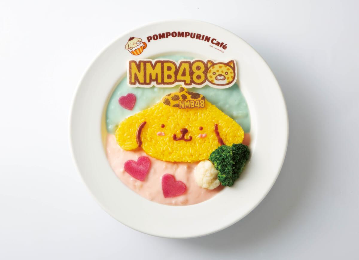 NMB48がポムポムプリンカフェとコラボ! 購入者限定の記念ノベルティグッズも